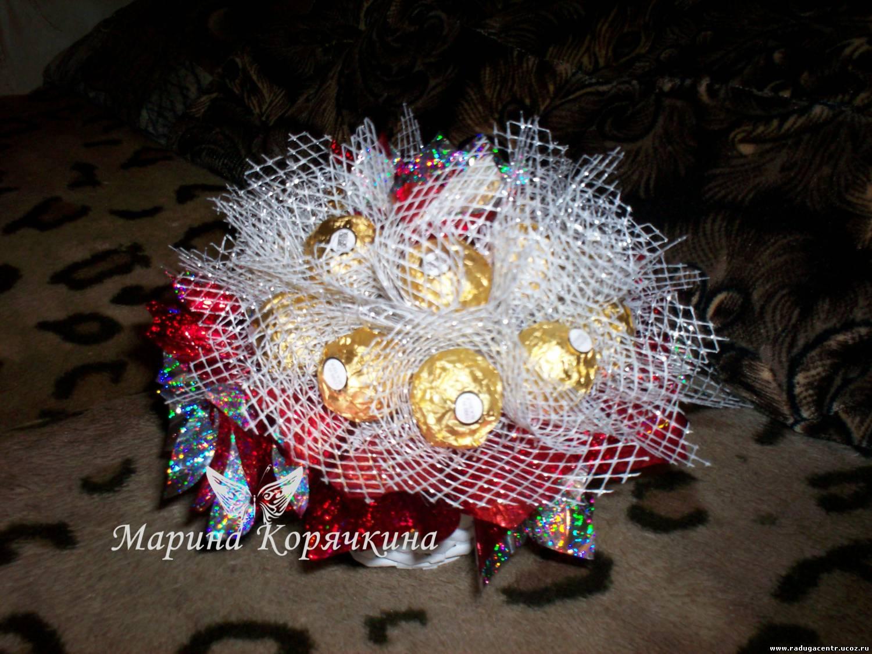 Букеты из конфет ферреро роше своими руками с пошаговым фото