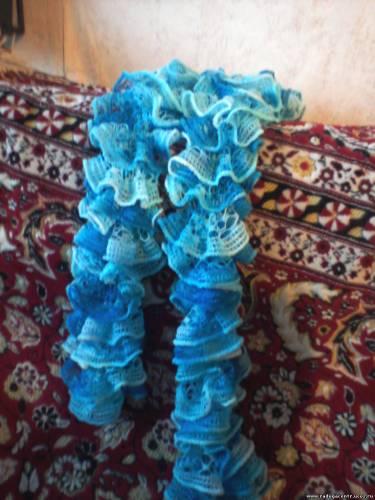 Ручная работа всегда дорого стоит!Я ещё связала 2 шарфа ажурных:один из... а сколько стоит? в продаже видела такие...